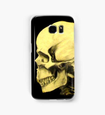 Profile Skull Charcoal Drawing Samsung Galaxy Case/Skin