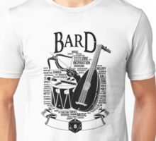 RPG Class Series: Bard - Black Version Unisex T-Shirt