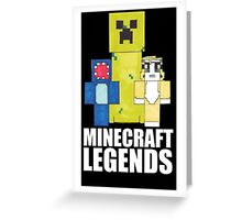 Squid And Stampy - Minecraft Legends Greeting Card