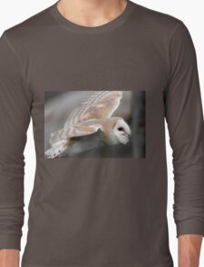 Fying Barn Owl Long Sleeve T-Shirt