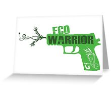 Eco Warrior - CS:GO P250  Greeting Card