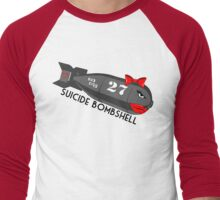 Suicide Bombshell #27 Dub City Men's Baseball ¾ T-Shirt