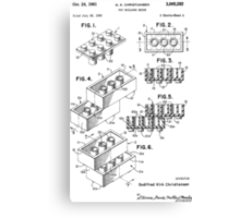 Lego Toy Building Brick Patent  Canvas Print