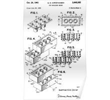 Lego Toy Building Brick Patent  Poster
