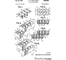 Lego Toy Building Brick Patent  Photographic Print