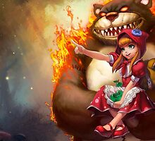 League Of Legends - Annie & Tibbers by mariafumada