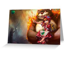 League Of Legends - Annie & Tibbers Greeting Card