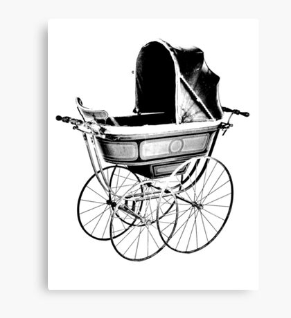 Antique Baby Carriage. Antique Baby Stroller. Vintage Baby Carriage. Old Fashioned Baby Gifts. Canvas Print