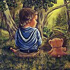 My Favorite Place #4, Time To Go Home Teddy by Susan Bergstrom