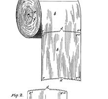 Toilet Paper Roll Patent 1891 by chris2766