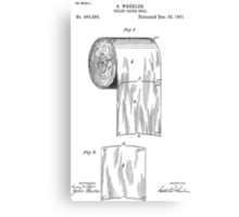 Toilet Paper Roll Patent 1891 Canvas Print