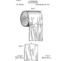 Toilet Paper Roll Patent 1891 Photographic Print