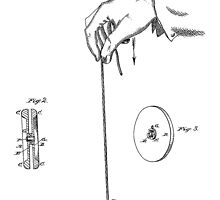 Vintage Yoyo Patent Drawing From 1866 by chris2766