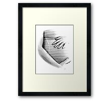 Pregnant Tummy. Expectant Mother Holding Her Precious Baby. Framed Print