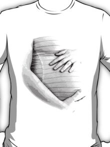 Pregnant Tummy. Expectant Mother Holding Her Precious Baby. T-Shirt