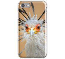 Secretary bird portrait close-up iPhone Case/Skin