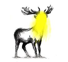 Stag-fitti Photographic Print
