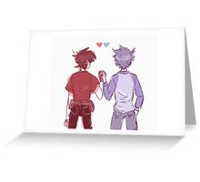 Klance red and blue Greeting Card
