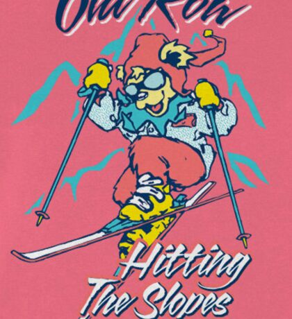 Old Row Hitting the Slopes Sticker