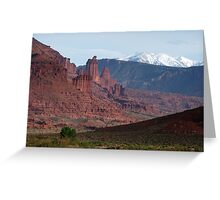 Fisher Towers and La Sals Greeting Card