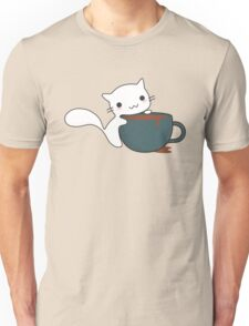 Cute Cat and Coffee Unisex T-Shirt