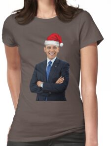 Barack Obama - Merry Christmas Womens Fitted T-Shirt
