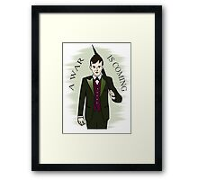 a war is coming - the penguin - gotham Framed Print