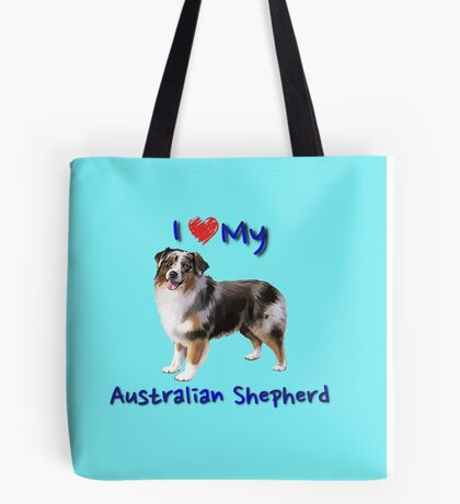 I Heart My Australian Shepherd Tote Bag