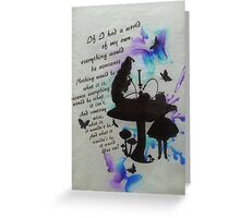 A Little Bit of Alice Greeting Card
