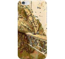 A digital painting of The Little Inferno, Peru (trestle between two perpendicular walls thousands of feet high) iPhone Case/Skin