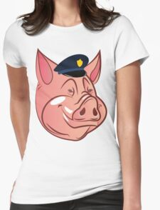 PIGS IS PIGS.  Womens Fitted T-Shirt