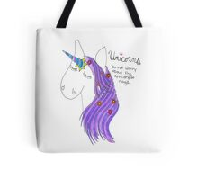Cartoon Unicorn Tote Bag