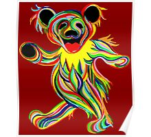Grateful Dead - Psychedelic Bears Poster