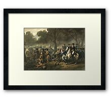 George Washington as a Soldier Framed Print