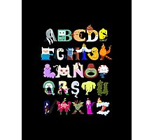 Adventure Alphabet Photographic Print