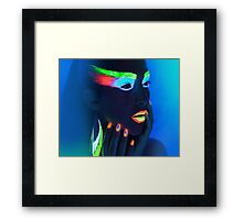NEON WOMAN Framed Print