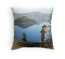Praying to the Spirits Throw Pillow