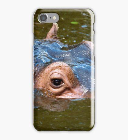 Happy Hippo Portrait iPhone Case/Skin