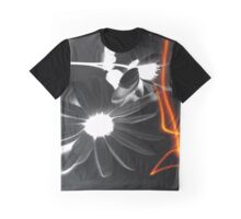 Black and White Daisy Electrified Graphic T-Shirt