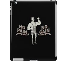 No Pain No Gain (Funny Circus Strongman Vintage)  iPad Case/Skin