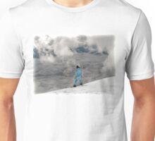 Snowboard Dropping In Face of Mountain. Unisex T-Shirt
