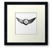 Gypsy Danger Logo - Black Framed Print