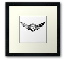 Gypsy Danger Logo - Black Framed Print