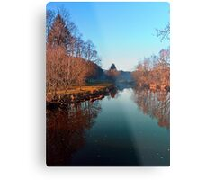 Winter mood on the river | waterscape photography Metal Print