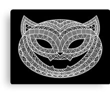 Patterned Halloween Cat Canvas Print