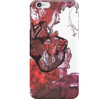 Pen study of anatomical heart on card stock  iPhone Case/Skin