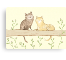 Cats on the Fence Canvas Print