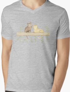 Cats on the Fence Mens V-Neck T-Shirt