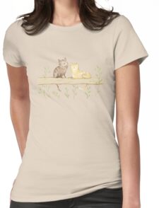 Cats on the Fence Womens Fitted T-Shirt