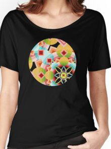 Groovy Deco Geometric Women's Relaxed Fit T-Shirt